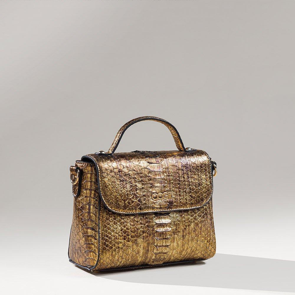 GOLD SNAKESKIN BAG