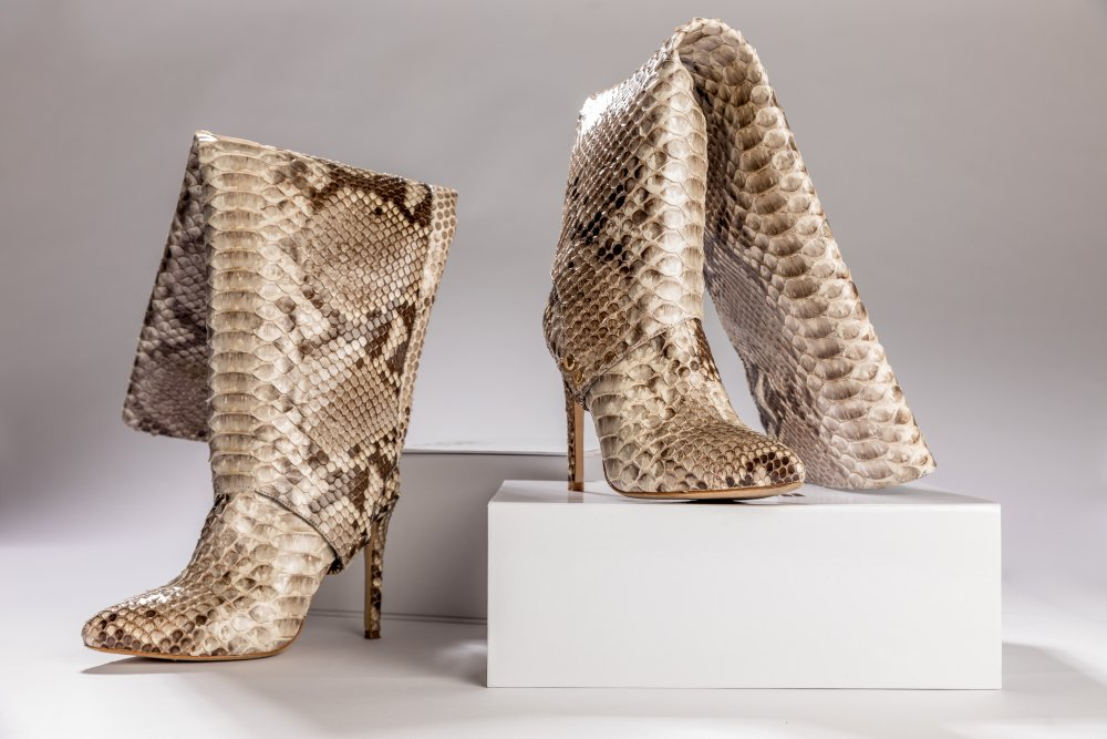 NATURAL SNAKESKIN BOOTS