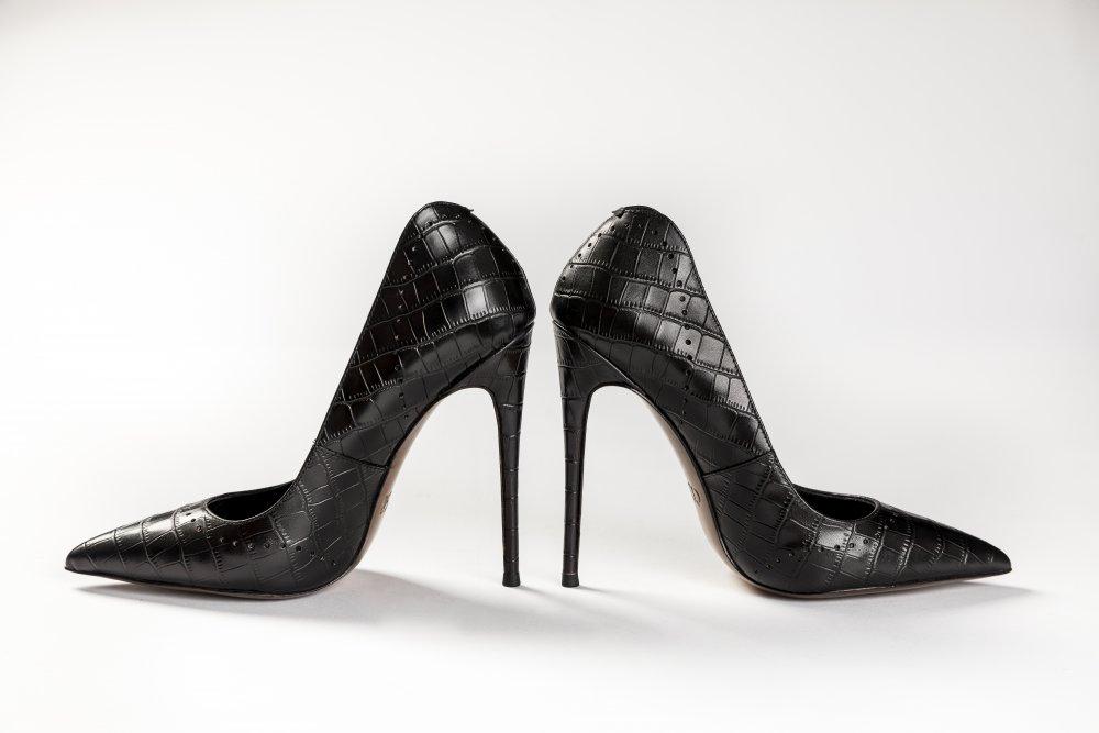 Black Calfskin Heels - 12cm