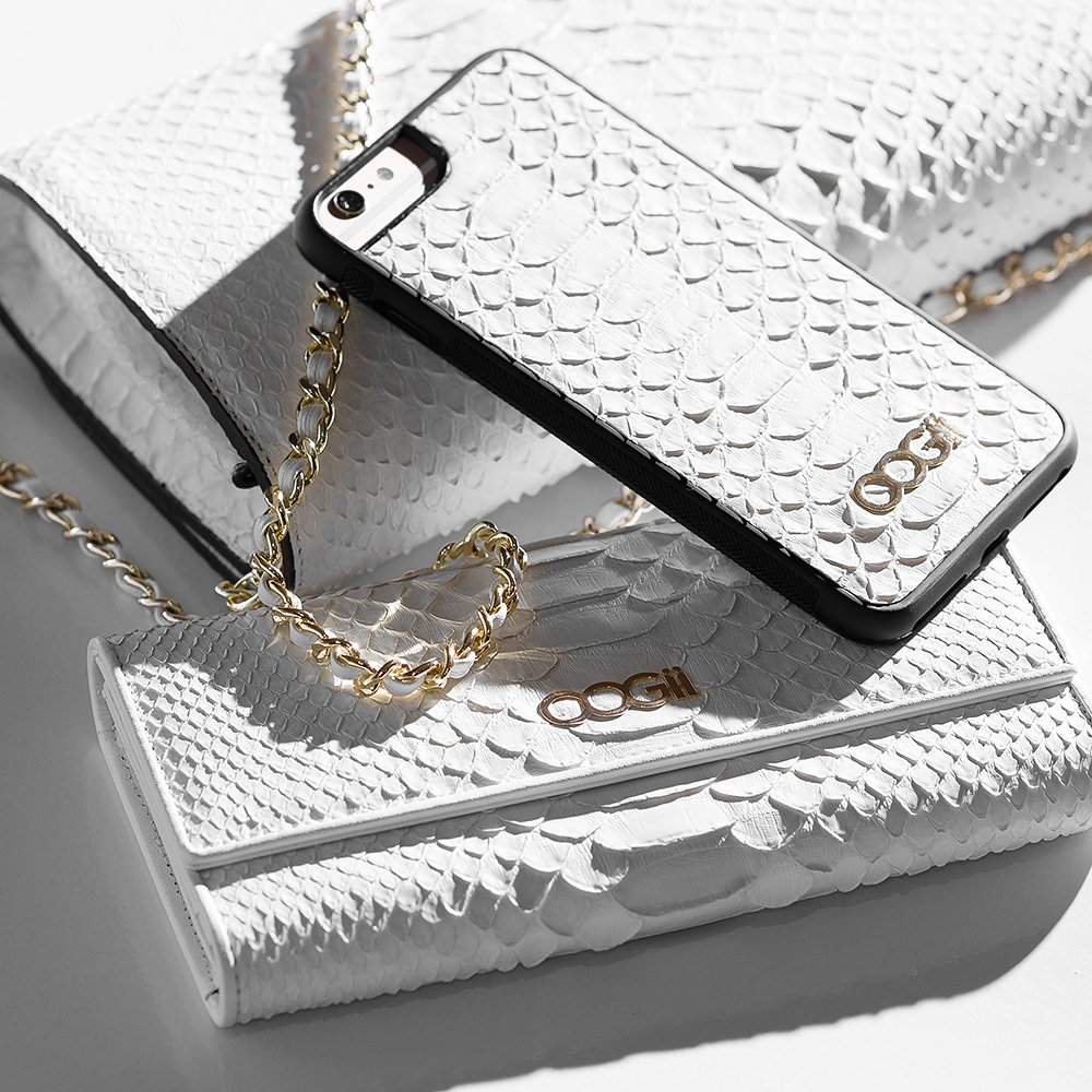 WHITE SNAKESKIN IPHONE CASE