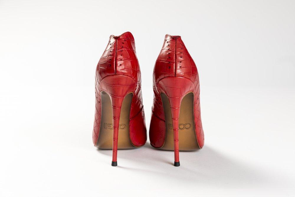 Red Calfskin Heels - 12cm