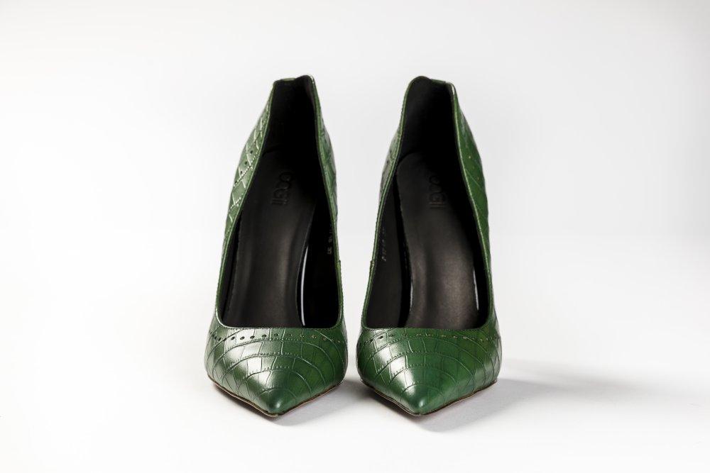 Green Calfskin Heels - 12cm