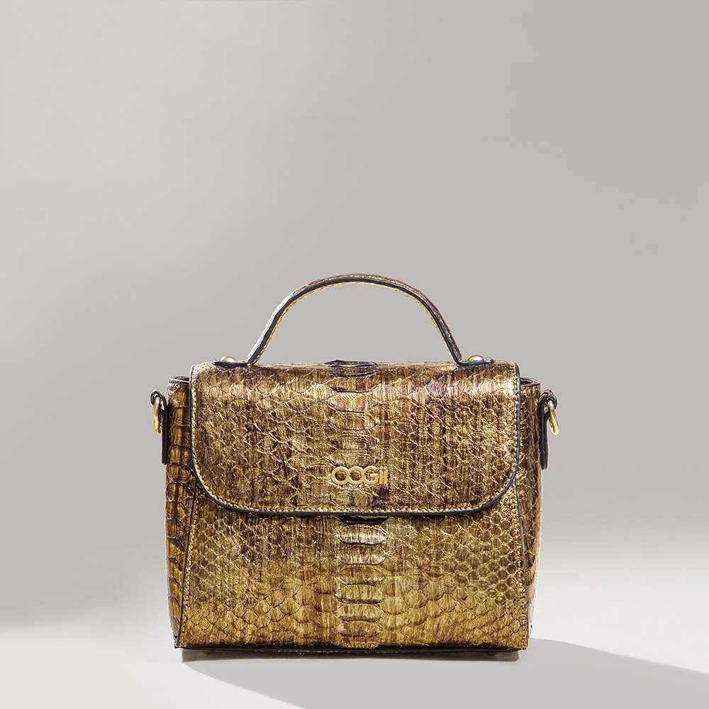 GOLD SNAKESKIN BAG