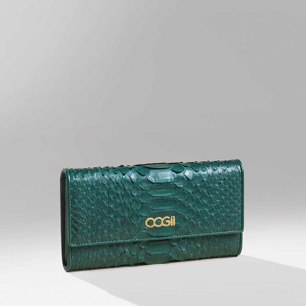 GREEN SNAKESKIN WALLET