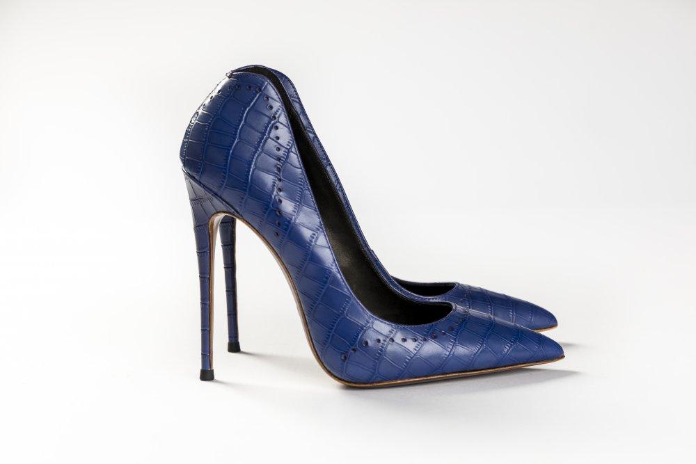 Purple Calfskin Heels - 12cm