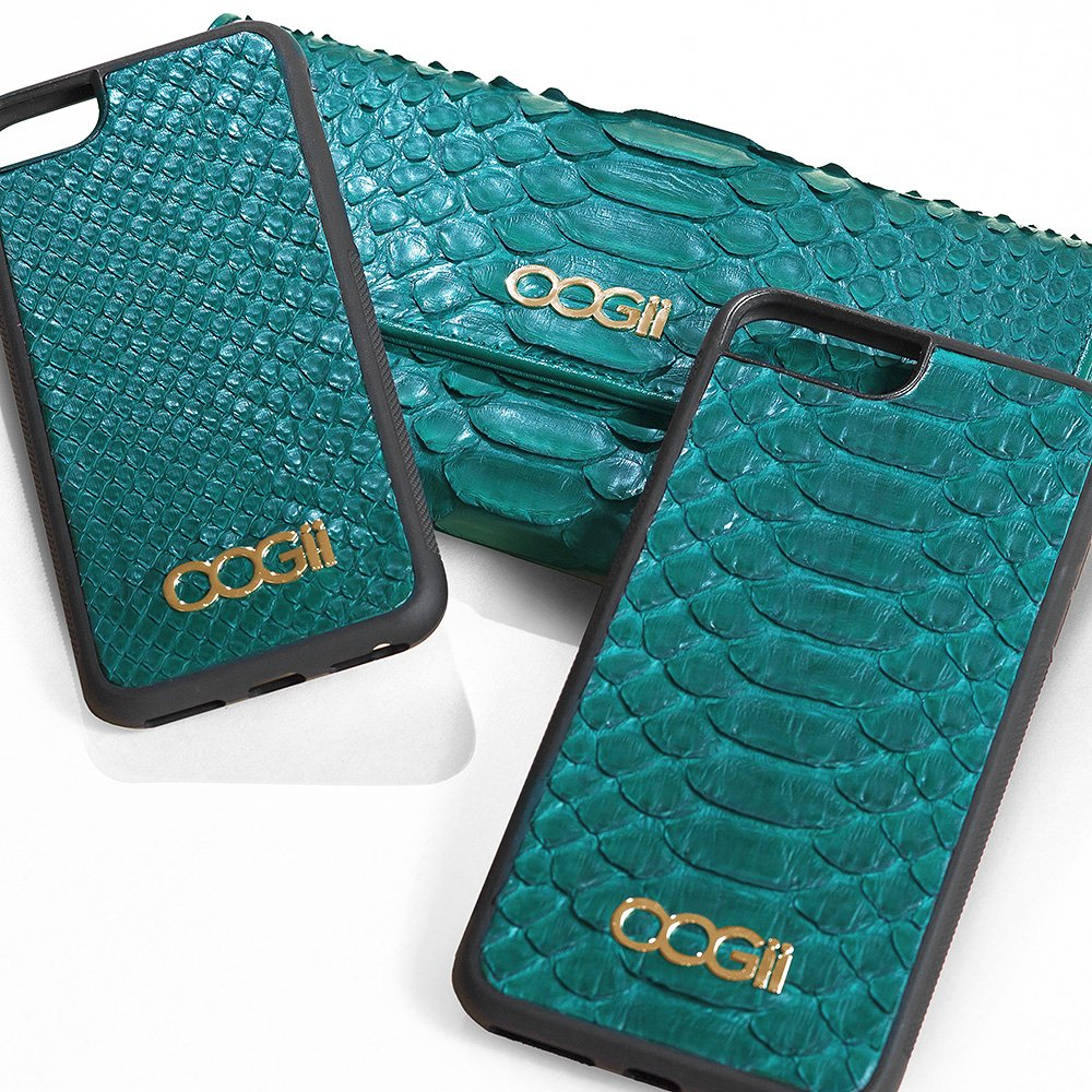 GREEN SNAKESKIN IPHONE CASE