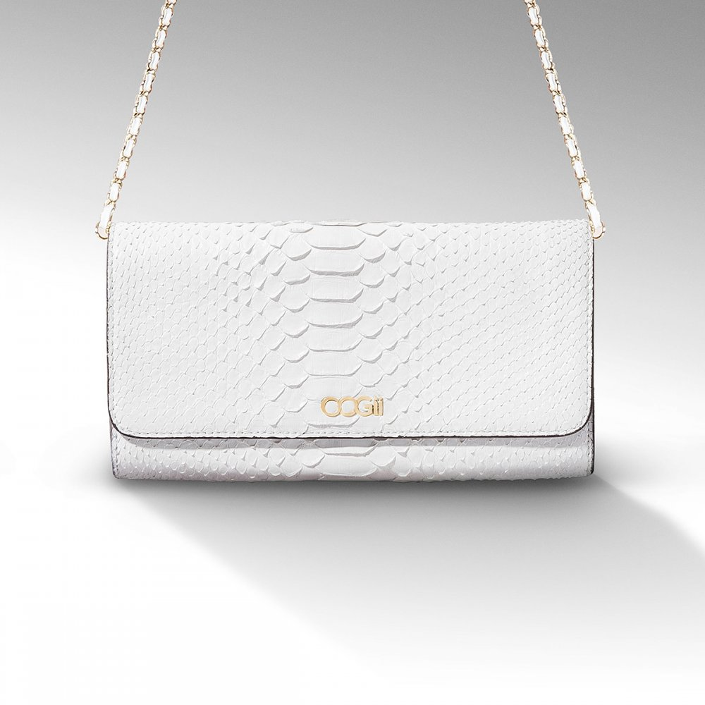 WHITE SNAKESKIN BAG